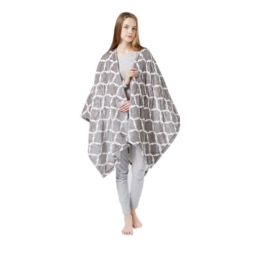 Beautyrest Ogee Heated Snuggle Wrap