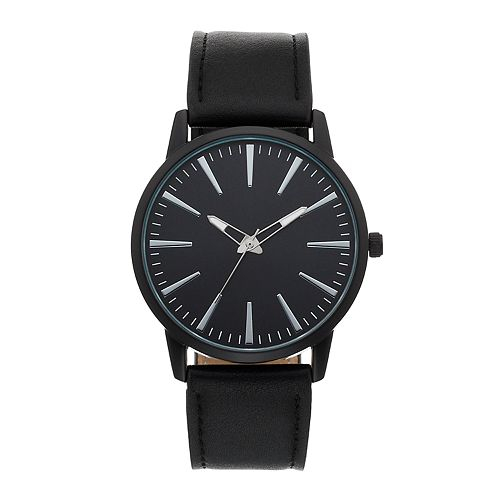 Men's Black Dress Watch
