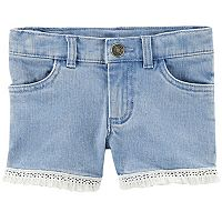 Girls 4-8 Carter's Fringe Trim Jean Shorts
