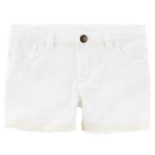 Girls 4-8 Carter's Lace Trim Shorts