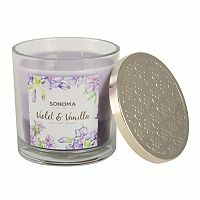 SONOMA Goods for Life™ Violet & Vanilla 14-oz. Tri-Pour Candle Jar