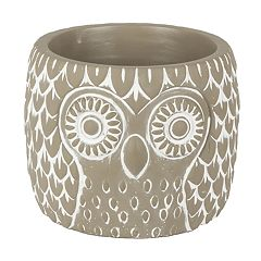 Gerson Large Indoor / Outdoor Cement Owl Planter