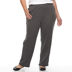 Plus Size Croft & Barrow® Pull-On Knit Leisure Pants