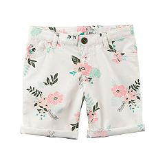 Girls 4-8 Carter's Floral Rolled Cuff Shorts
