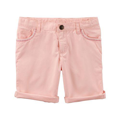 Girls 4-8 Carter's Rolled Cuff Shorts