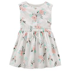 Girls 4-8 Carter's Floral Button Front Dress