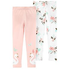 Girls 4-6x Carter's 2-pack Swan & Floral Leggings