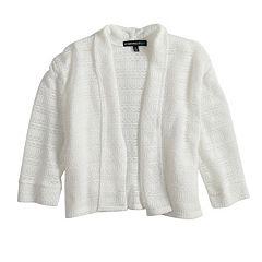 Girls 7-16 My Michelle Open Weave Cuffed Cardigan Sweater