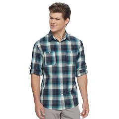 Men's Urban Pipeline Awesomely Soft Plaid Button-Down Shirt