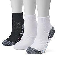 Women's Tek Gear® 3-pk. Kaleidoscope Quarter Socks