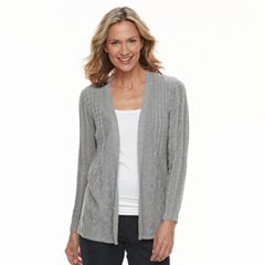 Women's Croft & Barrow® Cable-Knit Cardigan