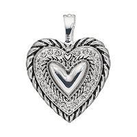 wearable ART Rope Heart Pendant