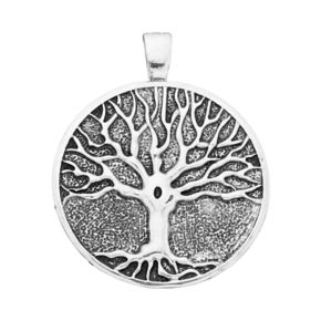 wearable ART Antiqued Tree of Life Pendant