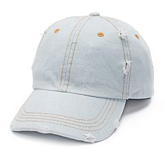 Mudd® Distressed Denim Baseball Cap