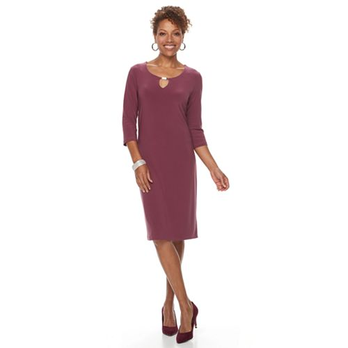 Women's Nina Leonard Embellished Sheath Dress