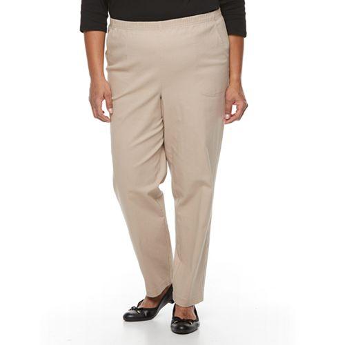 Plus Size Croft & Barrow® Twill Pull-On Pants