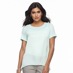 Petite Apt. 9® Mixed-Media Scoopneck Tee