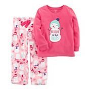 Girls 4-14 Carter's Friendly Applique Top & Patterned Bottoms Pajama Set
