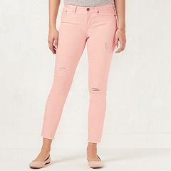 Women's LC Lauren Conrad Heart Ankle Skinny Jeans