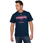 Men's Majestic Cleveland Indians 2017 AL Central Division Champs Locker Room Tee