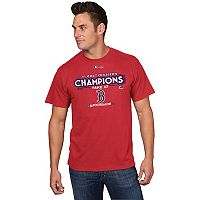 Men's Majestic Boston Red Sox 2017 AL East Division Champs Locker Room Tee