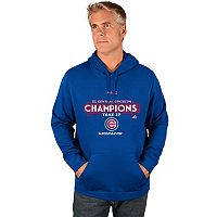 Men's Majestic Chicago Cubs 2017 NL Central Division Champs Locker Hoodie