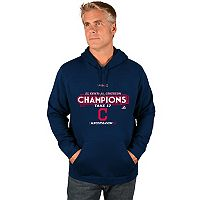 Men's Majestic Cleveland Indians 2017 AL Central Division Champs Locker Room Hoodie