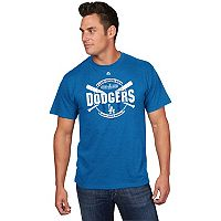 Men's Majestic Los Angeles Dodgers 2017 NL West Division Champs October Chase Tee