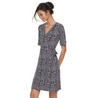 Petite Apt. 9® Grommet Waist Faux-Wrap Dress