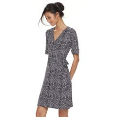 Petite Apt. 9® Grommet Waist Faux-Wrap Dress