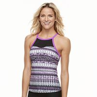 Women's ZeroXposur Ikat Ladder-Back Tankini Top