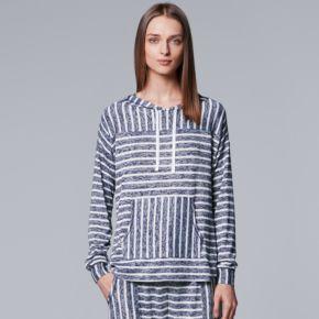 Women's Simply Vera Vera Wang Waking Hours Long-Sleeve Hooded Top