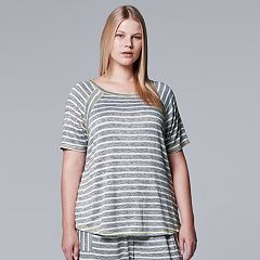 Plus Size Simply Vera Vera Wang Waking Hours Top