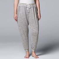 Plus Size Simply Vera Vera Wang Waking Hours Cropped Pant