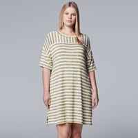 Plus Size Simply Vera Vera Wang Waking Hours Short Sleeve Sleepshirt