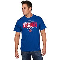 Men's Majestic Chicago Cubs 2017 NL Central Division Champs Participant Tee