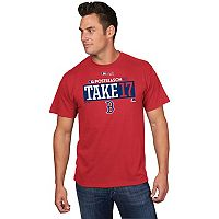 Men's Majestic Boston Red Sox 2017 AL East Division Champs Participant Tee