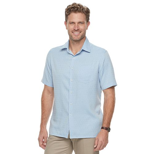 Men's Croft & Barrow  Microfiber Button-Down Shirt