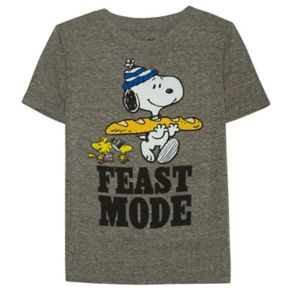"Boys 4-7x Jumping Beans® Thanksgiving Peanuts Snoopy & Woodstock ""Feast Mode"" Tee"