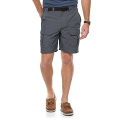 Men's Croft & Barrow® Classic-Fit Outdoor Belted Side-Elastic Ripstop Cargo Shorts