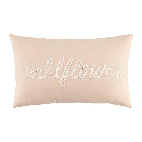 "LC Lauren Conrad ""Wildflower"" Oblong Throw Pillow"