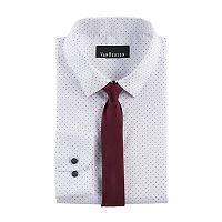 Boys 8-20 Van Heusen Dot Shirt & Tie