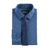 Boys 8-20 Van Heusen Geo Print Shirt & Tie Set