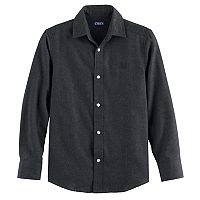 Boys 4-20 Chaps Solid Flannel Button-Down Shirt