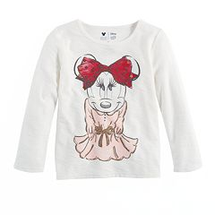 Disney's Minnie Mouse Toddler Girls Minnie Graphic Long Sleeve Tee by Jumping Beans®