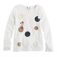 Disney's Minnie Mouse Girls 4-7 Dotted Graphic Long Sleeve Tee by Jumping Beans®