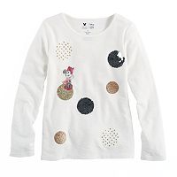 Disney's Minnie Mouse Toddler Girls Dotted Graphic Long Sleeve Tee by Jumping Beans®