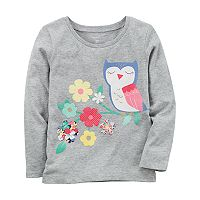 Girls 4-8 Carter's Owl & Flower Graphic Tee