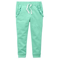 Girls 4-8 Carter's Ruffle Pocket Jogger Pants