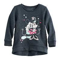 Disney's Mickey Mouse & Minnie Mouse Baby Girl High-Low Fleece Lined Pullover Sweater by Jumping Beans®